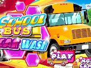 Wash and clean school bus