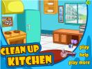 Clean up kitchen - start game.