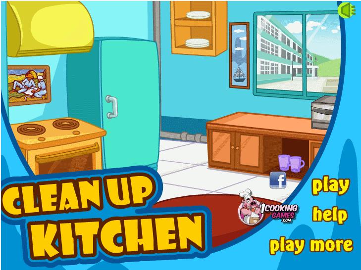 Clean up kitchen start game