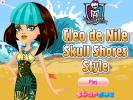 Cleo de Nile Shores dress up game.
