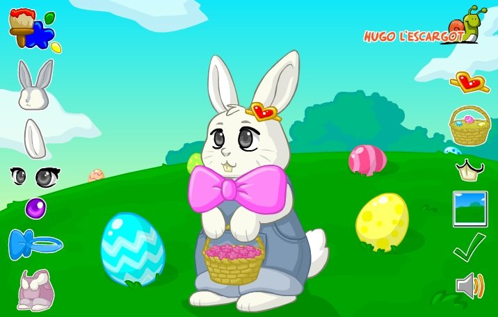 Easter bunny decorating game for Animal decoration games
