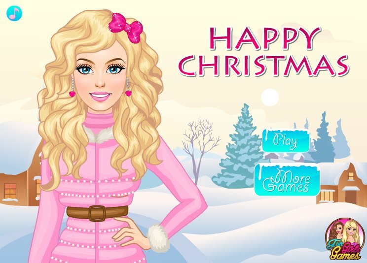 Play happy christmas dress up game