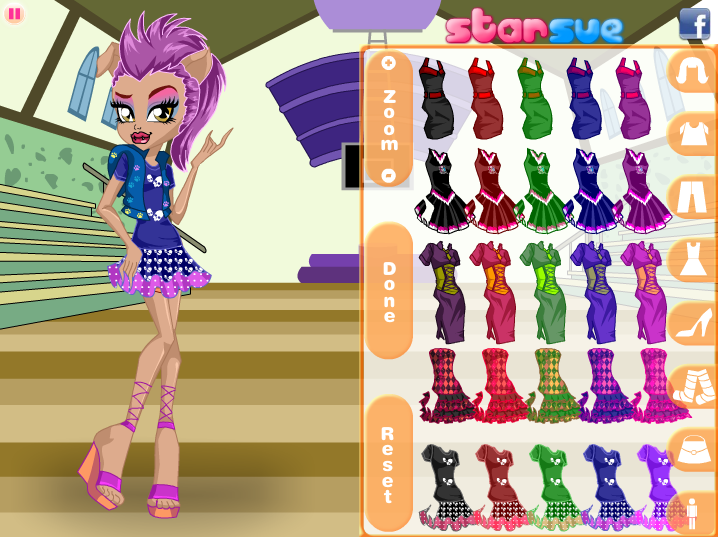 Dress up monster high howleen pictures
