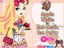 Apple White dress up game.
