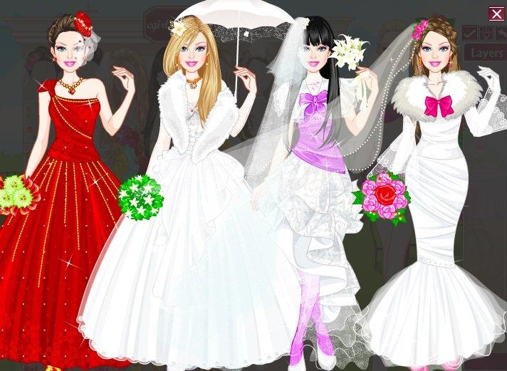 Pics photos barbie bride dress up game screenshot thumbnail