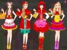Barbie red hood dress up game.