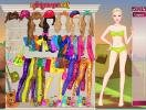 Barbie Camping Princess dressup game.