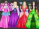 Barbie princess free dress up game.