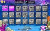 Earn coins and buy new outfits for your dolphin.