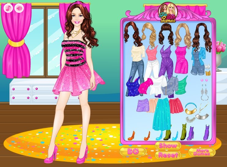 Fun girl dress up game