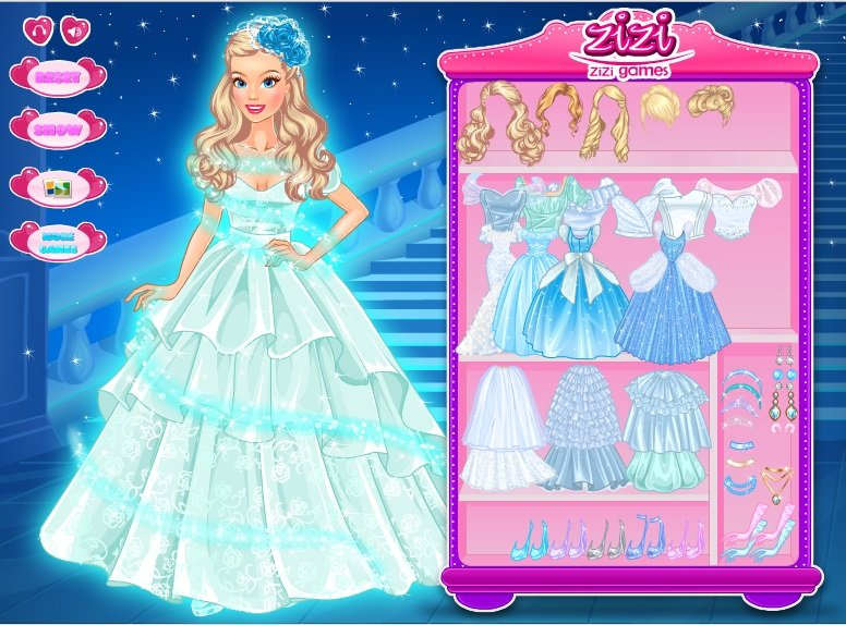 New Wedding Dress Up Games : Cinderella wedding dress up games mother of the bride dresses