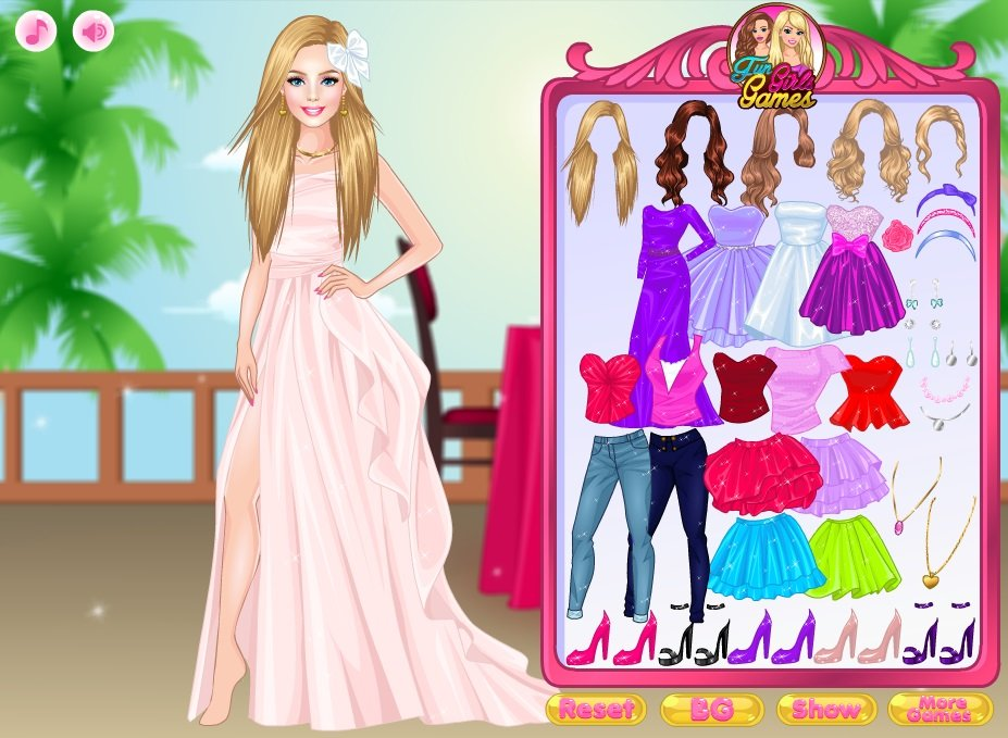 First date dressup game