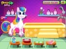 Pony in spa salon.