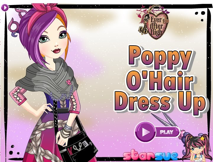 Poppy OHair From Ever After High Game - Games for hairstyle and dress up