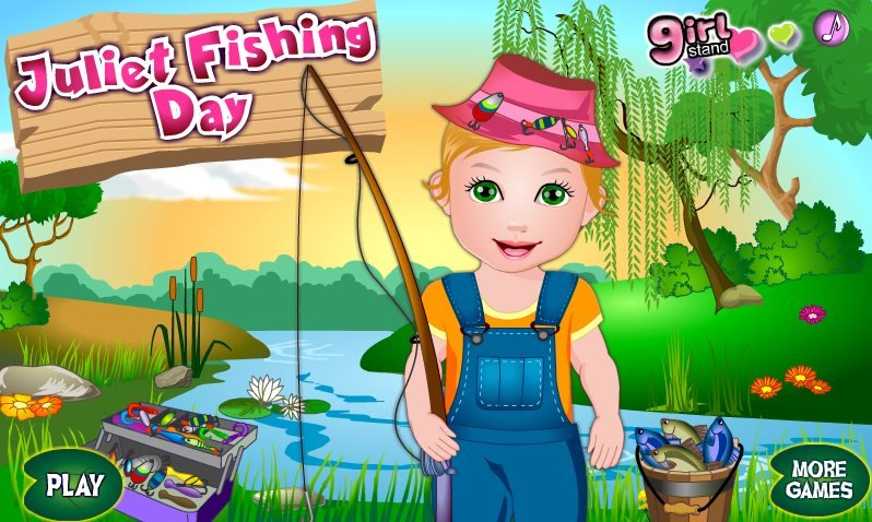 Baby juliet fishing game for Fishing games for girls
