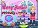 Baby Juliet Washing Clothes game.
