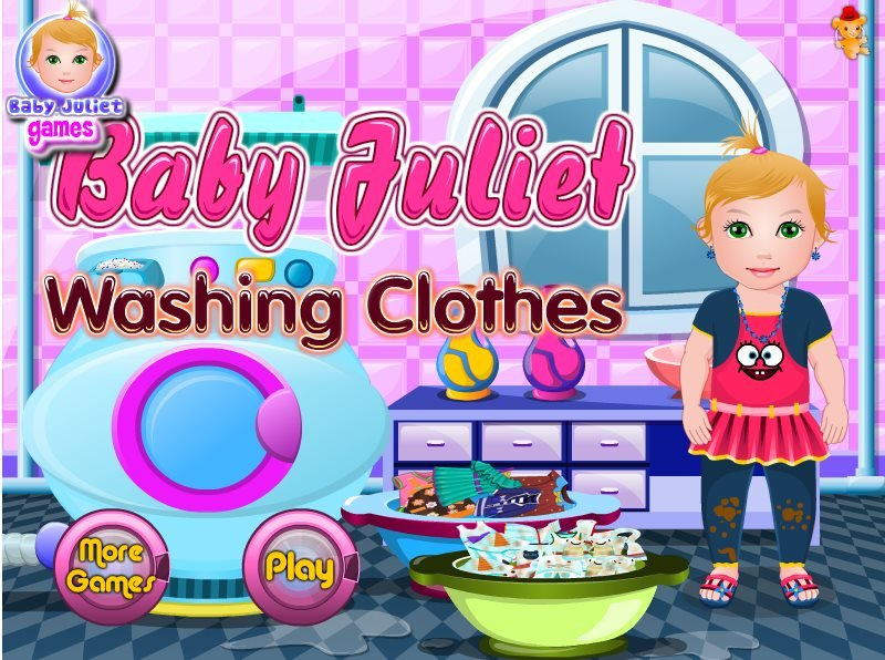 Baby Juliet Washing Clothes game