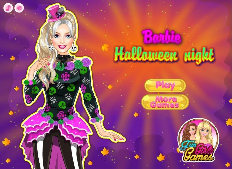 barbie halloween night dress up game - Barbie Halloween Dress Up Games
