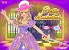 Barbie pretty musketeer dress up game.