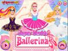 Super Barbie Ballerina dress up game.