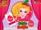 Barbies Elfie Selfie dress up game.