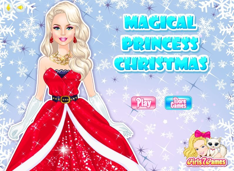 Magical princess christmas dress up game new red dress for our beauty