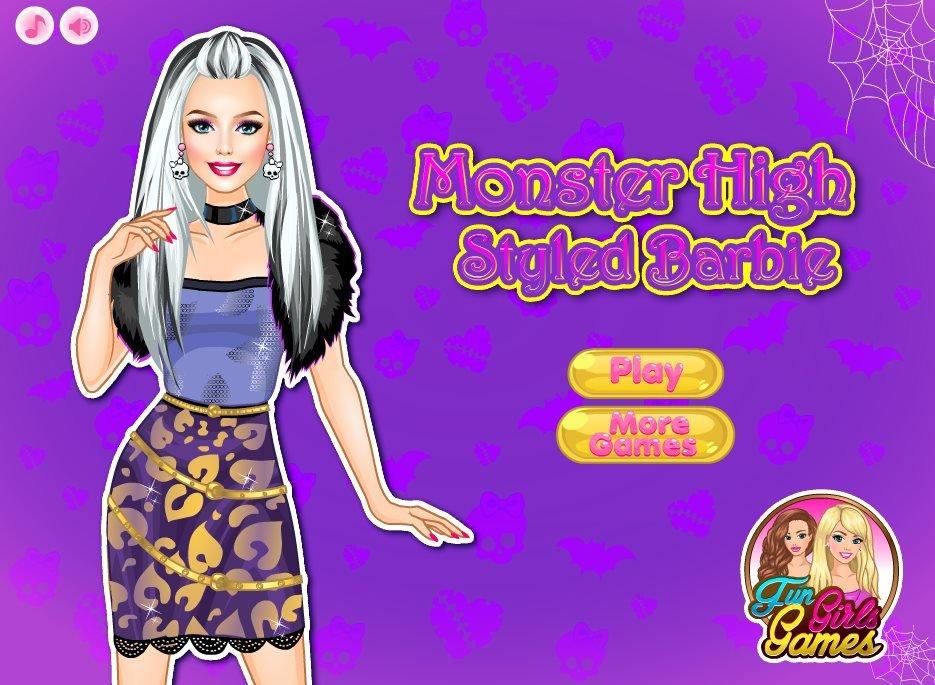 barbie monster games