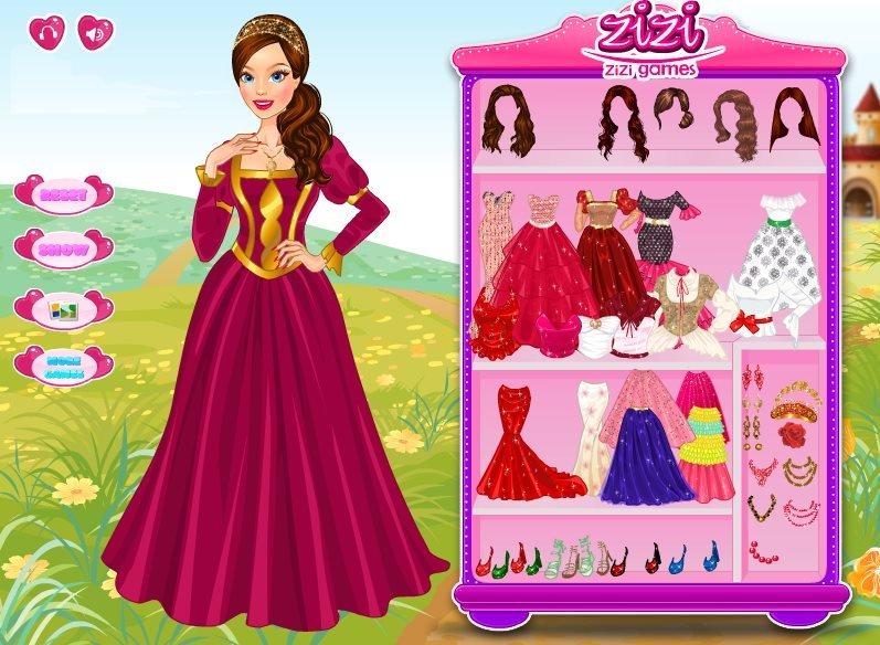 Игры для конкурс одевалки принцессы
