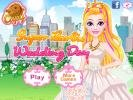 Super Barbie Wedding Day dress up game.