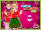 Winter Holidays dress up game.