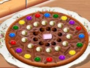 Fun game Cooking school: Chocolate pizza