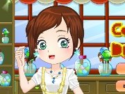 Dress candy shop assistant game