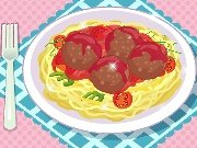 Spaghetti with meatballs game