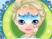 Baby Barbie Frozen Face Painting game