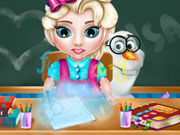 Baby Elsa School Time game