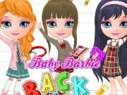 Baby Barbie goes to school game