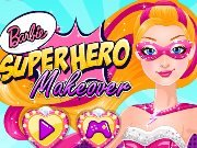 Barbie superhero in the beauty salon game