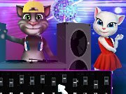 Game Cat DJ Tom and Angela cat