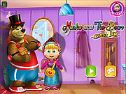 Masha and the Bear Dress Up game