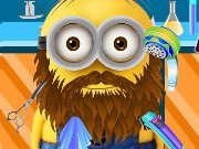 Minion shaves beard