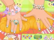 Manicure and dress for a little girl game