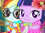 Twilight And Rainbow Pony Babies game