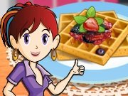 Sara cooking French waffles game