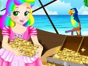 Princess Juliet looking for treasures game