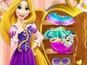 Rapunzel makes cleaning in the room game