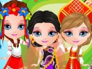 Baby Barbie travels around the world game
